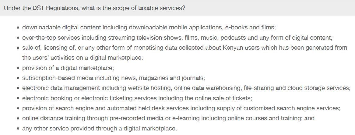 Digital Service Tax Scope